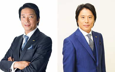 LEFT : NP Group President Takaaki Nagoshi	RIGHT : NPUSA CEO Takashi Tajima